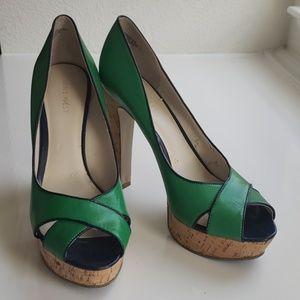 Used Nine West Platform Peep Toe Heels